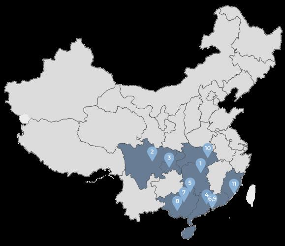 Peta Persebaran Cabang PPIT Region Selatan