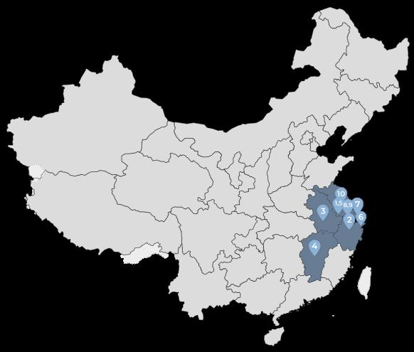 Peta Persebaran Cabang PPIT Region Timur