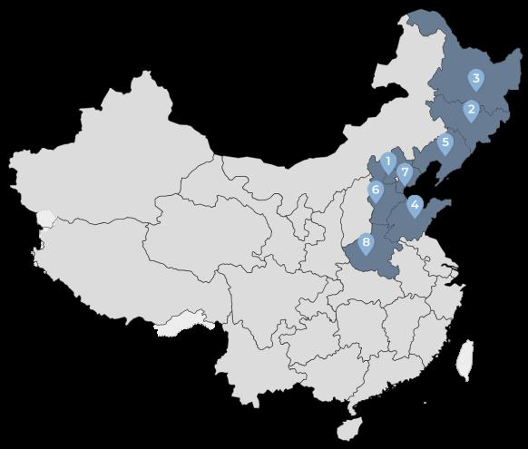 Peta Persebaran Cabang PPIT Region Utara